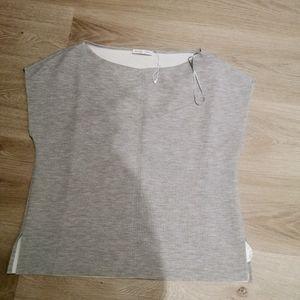 New Zara WB collection gray sleeveless top